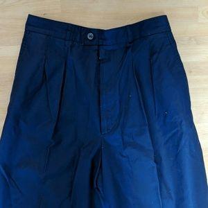 YSL classic navy-blue cotton pants